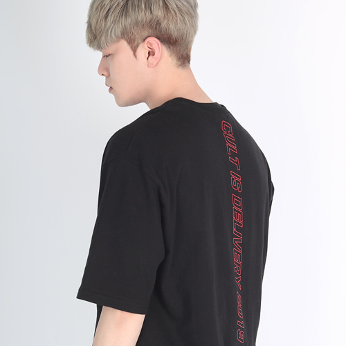 [디컬트]CID2019 1/2 T-shirt (black)