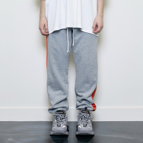 [D.PRIQUE] Track Jogger Pants Grey/Orange