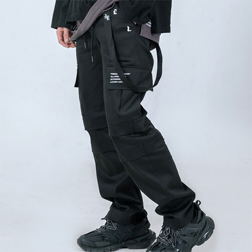 [A.Clown]Strap Double-Layered Cargo Patns(WORKWEAR)