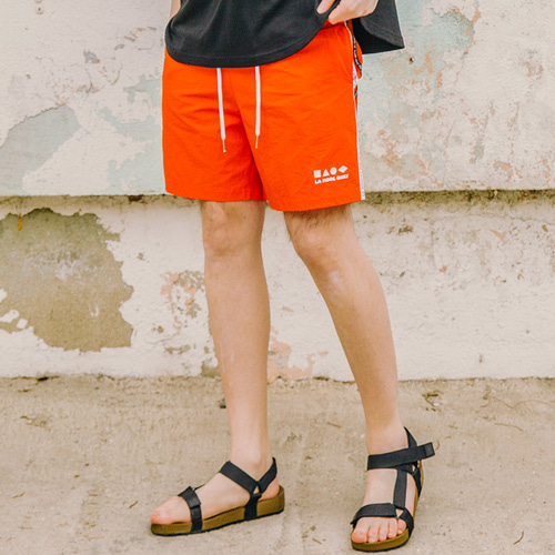 [LAMODECHIEF] LAMC SHAPE SHORT PANTS (ORANGE)