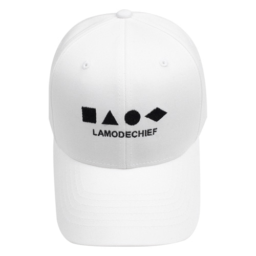 [LAMODECHIEF] LAMC SHAPE BALL CAP (WHITE)