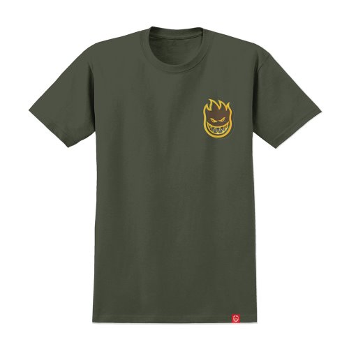 [Spitfire] LIL BIGHEAD S/S T-Shirt - MILITARY GREEN/YELLOW 51010388Q