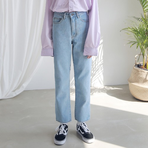 [ARDOROBE] WASHING STRAIGHT DENIM PANTS ALP191001-LB