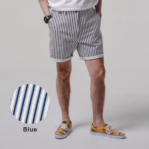 [STAGE NAME] STRIPE shorts_BLUE