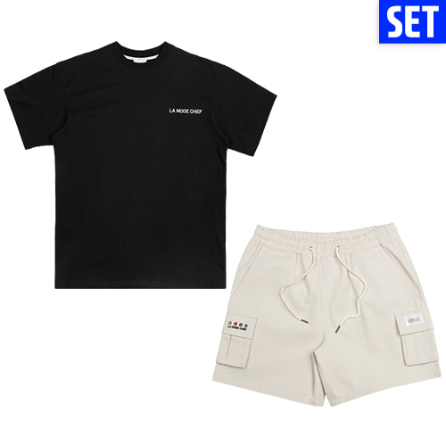 [LAMODECHIEF][1+1] SHORT SLEEVE + PANTS SET No.4