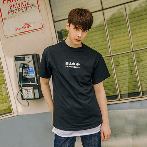 [LAMODECHIEF] LAMC SHAPE SHORT SLEEVE (BLACK)