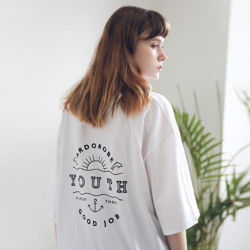 [ARDOROBE] UNISEX YOUTH CIRCLE TEE ATS191001-WT