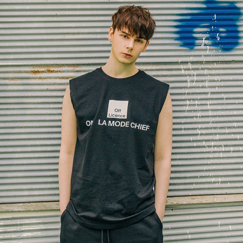 [LAMODECHIEF] LAMC OFF LICENCE SLEEVELESS (BLACK)