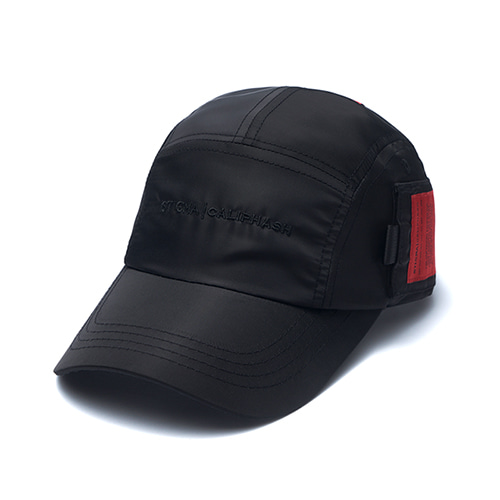 [STIGMA]CALIPH ASH POCKET CAMP CAP - BLACK