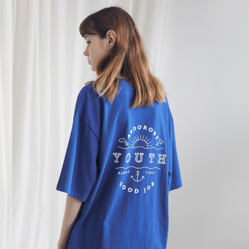 [ARDOROBE] UNISEX YOUTH CIRCLE TEE ATS191001-BL