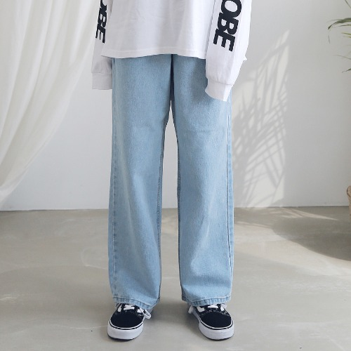 [ARDOROBE] WASHING WIDE DENIM PANTS ALP191002-LB