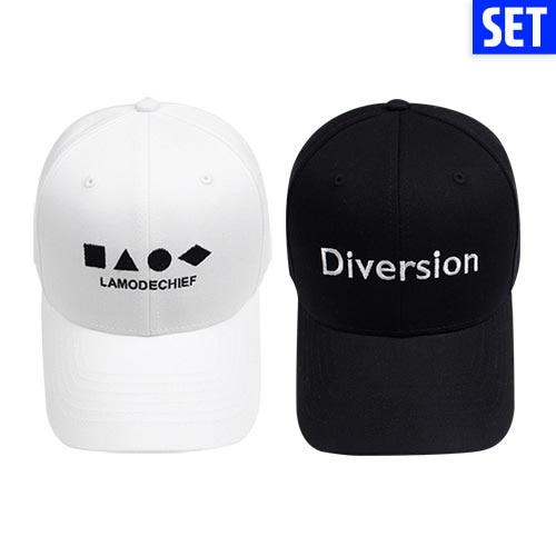 [LAMODECHIEF][1+1] BALL CAP + BALL CAP SET No.1