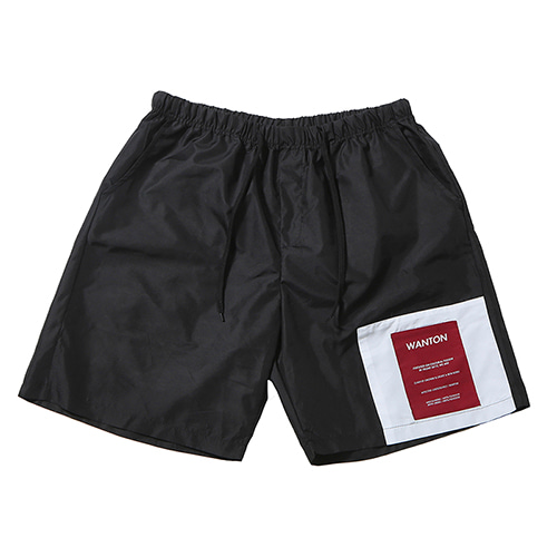 [WANTON] TWO TONE SHORTS BLACK