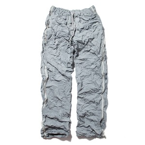 [KING]Crinkled Track Pants -Grey
