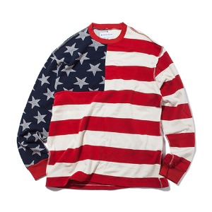 KING]Star & Stripes Long Sleeve -Red