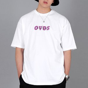 [OHVERDOSE]OVER-FIT SIGNATURE LOGO TEE WHITE