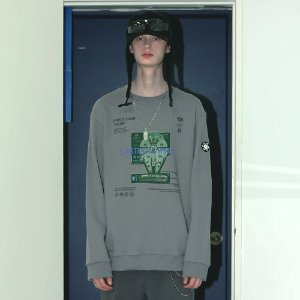 [APPARELXIT] UNISEX SPACE SWEAT SHIRTS GREY