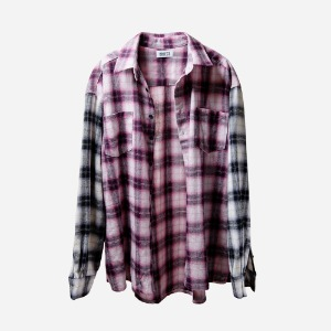 [OBJECT] PURPLE FLANNEL SHIRT