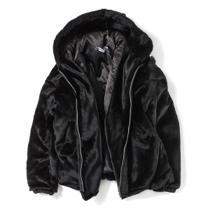 [KING]Heavy Fur Jacket -Black