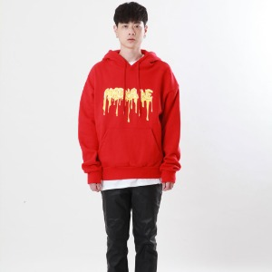 [Double adrenaline syndrome]logo bloody hoodie(red)
