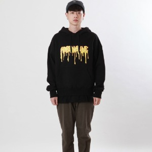 [Double adrenaline syndrome]logo bloody hoodie(black)