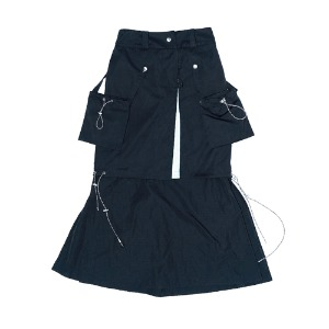 [XNADUWORKS] Archive Skirt - Black