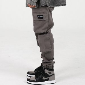 [OHVERDOSE]MULTI CARGO PATCH LOGO JOGGER PANTS