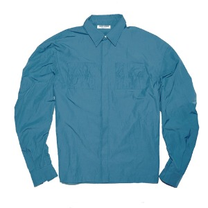 [XNADUWORKS] Shirring Shirts Creeze - Blue
