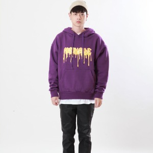 [Double adrenaline syndrome]logo bloody hoodie(purple)