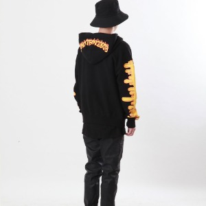 [Double adrenaline syndrome]signature bloody hoodie(yellow)