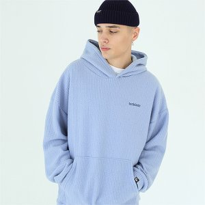 [TENBLADE] Over fit hunter knit hoodie-sky