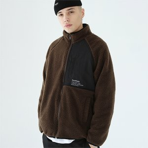 [TENBLADE] Mikkeli fleece zipup-brown