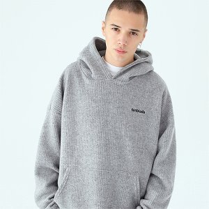 [TENBLADE] Over fit hunter knit hoodie-gray