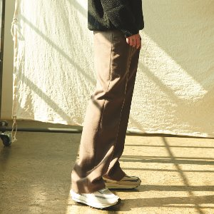 [ANOUTFIT] UNISEX LONG WIDE W SLACKS BROWN