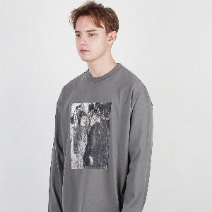 [compàgno] LONGSLEEVES famous painting TEE 다크그레이