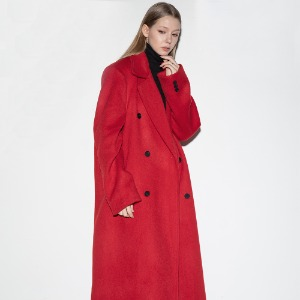 [FLARE] Over double long coat (FL-009) - Red