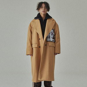 [WANTON]FACE LONG COAT BEIGE
