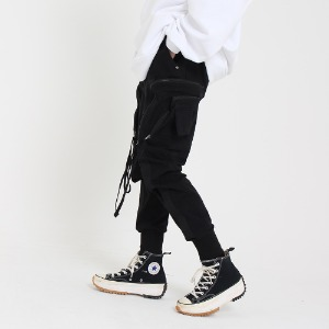 [UNCOMMEN/언커맨] UCN WESTERN TECH JOGGER PANTS_BLACK