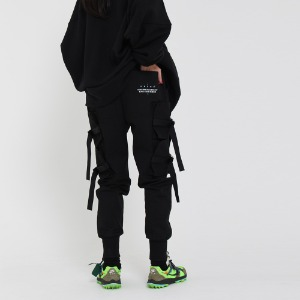 [UNCOMMEN/언커맨] UCN WEBBING TECH JOGGER PANTS_BLACK
