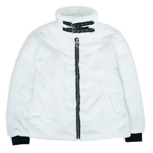 [OY] LOGO FUR JACKET - WHITE [12/16 예약배송]