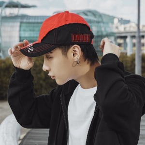[CODEHOLiC] Unisex 빈티지 2-Color 볼캡 - Red