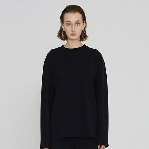[IRONYPORNO]UNISEX SILKET WASHING TEE IRT005 BLACK