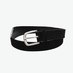 [IRONYPORNO]SIGNATURE LOGO VELVET BELT IRA007 BLACK