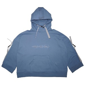 [WOOVING] BUCKLE UP HOODIE - BLUE