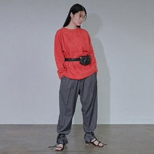 [XYZ] UNISEX TWO TUCK WIDE SLACKS - DARK GREY