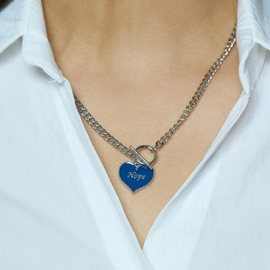 [HAWHA] Hope heart tokeul necklace