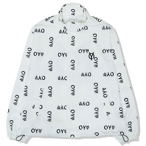 [OY]LEATHER PATCH LOGO TRACK JACKET-WHITE