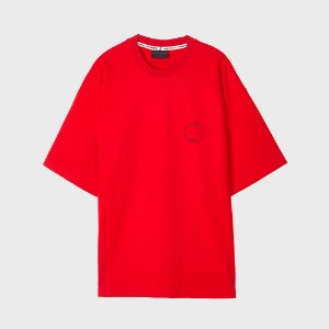 [Reverse]OVERSIZE R2 LOGO T-SHIRTS-RED