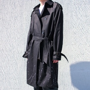 [RUNDS] painting double trench coat (2color)