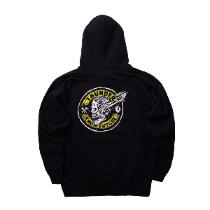 [REAL] SCRMING MAINLINE HOOD - BLACK/YELLOW